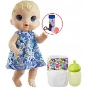 Boneca Baby Alive Brinquedo De Menina Hora Do Xixi Loira Com Acessórios Bolhas De Sabão Hasbro