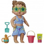 Boneca Baby Alive Brinquedos De Meninas Sol E Praia Bebê Morena 8 Peças Hasbro