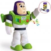 Boneco Articulado Meu Amigo Buzz Lightyer Toy Story Bolhas De Sabão Educativo Eletrônico 20 cm Infantil Menino Frases Disney Elka