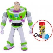 Boneco Buzz Lightyear Brinquedo Infantil Bolhas De Sabão Para Meninos Sem Som Articulado Toy Story 4