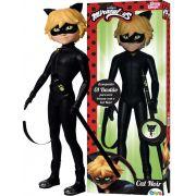Boneco Cat Noir Miraculous Articulado 55 Cm Com Bastão Brinquedo Infantil Menino Plástico Grande Baby Brink