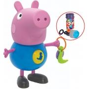 Boneco George Com Atividades Azul Menino Didáticas Infantil Acima +24 Meses Educativo Resistente Bolhas De Sabão Elka