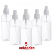Borrifador De Àgua 5 unidades Pequeno 100ml Para Bolsa Portátil Resistente Plasart Branco Novo