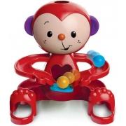 Brinquedo De Atividades Boneco Zuquinha Educativo Macaquinho Escorrega Bolinhas Vermelho Estimula Coordenação Motora Elka