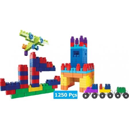 Brinquedo Infantil Blocos De Montar 1250 Peças Menino Menina Bloc Slim Colorido Coordenação Motora Luctoys Novo