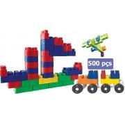 Brinquedo Infantil Blocos De Montar 500 Peças Menino Menina Bloc Slim Colorido Coordenação Motora Luctoys Novo