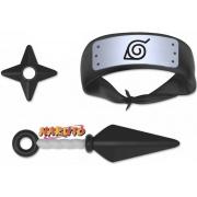 Brinquedo Infantil Kit Naruto Anime Ninja Meninos Com Bandana Shippuden Kunai Shuriken Divertido Elka