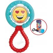 Brinquedo Para Bebês Chocalho E Mordedor Gira Gira Carinha Emoji Barulho Suave Menino Menina Infantil Estimulante Macio Bolhas De Sabão Elka