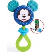 Brinquedo Para Bebês Chocalho E Mordedor Mickey Menino Estimulante Barulho Suave Orelhas Macias Bolhas De Sabão +3 Meses Elka