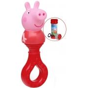 Brinquedo Para Bebês Chocalho E Mordedor Peppa Pig Estimulante Macio Barulho Suave Texturas Que Alivia Gengivas Bolhas De Sabão Elka