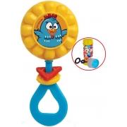Brinquedo Para Bebês Chocalho Galinha Pintadinha Girassol Estimulante Menino Menina Colorido Barulho Suave Bolhas De Sabão Elka