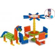 Brinquedo Pino Mágico Para Montar Colorido 170 Peças Estimula Criatividade Bolhas De Sabão Menino Menina Elka Novo