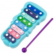 Brinquedo Xilofone Pequeno De Plástico Instrumento Musical Infantil Frozen 8 Teclas Coloridas Estimula A Criatividade Etitoys