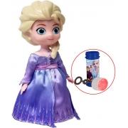 Brinquedos De Meninas Boneca Elsa Frozen 2 Dançarina Com Música Luzes Infantil 20 Cm Brinde Bolhas De Sabão Lançamento Disney Toyng