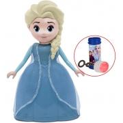 Brinquedos De Meninas Boneca Elsa Frozen Com Música Frases Do Filme Infantil 23 Cm Bolha De Sabão Lançamento Disney Elka