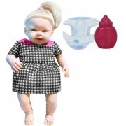 Brinquedos De Meninas Boneca Infantil Faz Xixi Linha Quero Ser Mamãe Macia Grande Acessórios Fralda Mamadeira Lançamento Pupee