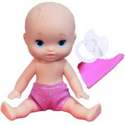 Brinquedos De Meninas Boneca Infantil Mini Dolls Little Mommy Soninho 15 Cm Pequena Naninha Chupeta Pupee