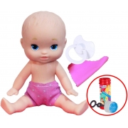 Brinquedos De Meninas Boneca Infantil Mini Dolls Little Mommy Soninho 15 Cm Pequena Naninha Chupeta Bolhas De Sabão Pupee