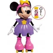 Brinquedos De Meninas Boneca Minnie Mouse Patinadora Infantil Bolhas De Sabão Articulada Eletrônico Com Som Conta História Elka