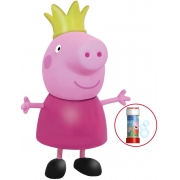 Brinquedos De Meninas Boneca Peppa Pig Princesa 13cm Rosa Com Coroa Infantil Resistente Acima 24 Meses Elka