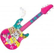 Brinquedos De Meninas Guitarra Fabulosa Barbie Infantil Com Sons Rosa Função Mp3 Player Com Corda Instrumento Musical Brinquedo Educativo Fun