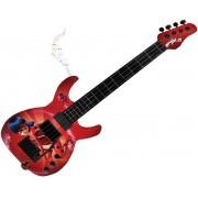 Brinquedos De Meninas Guitarra Infantil Ladybug Miraculous Vermelha Com Músicas Cordas Ajustáveis Palheta Instrumento Musical Brinquedo Educativo Fun
