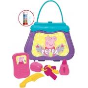 Brinquedos De Meninas Minha Primeira Bolsinha Peppa Pig Kit Com Acessórios Celular Batom Chaveiro Pente Brinquedo Infantil Elka