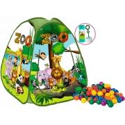 Brinquedos De Meninos Infantil Barraca Dobrável Zoo Safari 50 Bolinhas Toca Portátil Pop Up Cabana Fácil Montagem Fabrincando Idéias