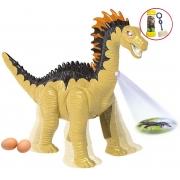 Brinquedos Meninos Dinossauro Boneco Infantil Eletrônico Com Luz Som Anda Movimentos Plástico Pôe Ovinhos +3 Anos Amargossauro Dm Toys
