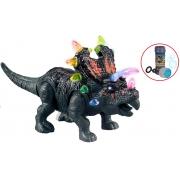 Brinquedos Meninos Dinossauro Boneco Infantil Eletrônico Com Luz Som Anda Movimentos Plástico Resistente +3 Anos Agujaceratops Dm Toys