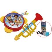Brinquedos Patrulha Canina Minha Bandinha Divertida Pandeiro Corneta Musical Bolhas De Sabão Lançamento Para Maiores 24 Meses Elka