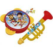 Brinquedos Patrulha Canina Minha Bandinha Divertida Pandeiro Corneta Musical Lançamento Para Maiores 24 Meses Elka