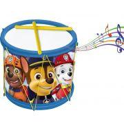 Bumbo Patrulha Canina Tambor Infantil Menino Instrumento Baquetas Divertido Brinquedo Estimula Coordenação Motora