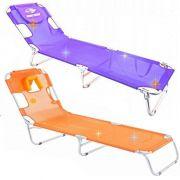 Cadeira Espreguiçadeira Laranja Textilene Aluminio Mormaii