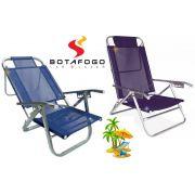 Cadeira Praia Reclinável 5 Posições Copacabana Aluminio 120kg