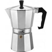 Cafeteira Italiana Moka Café Expresso Capacidade 6 Xícaras Bule 300ml Pequena Alumínio Casita Válvula De Segurança