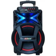 Caixa Amplificadora Aca 292 New Rodinhas Leds Usb Bluetooth Micro Sd Rádio Bivolt 290W RMS Original Amvox
