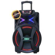 Caixa Amplificadora ACA 501 500W Rms Rodinhas Bluetooth Usb Rádio Micro Sd Original AMVOX