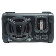 Caixa Amplificadora Rádio Relógio Digital Portátil Bluetooth 45W Entradas AUX CARD USB Bivolt Auto Display Em Led Aca 90 Clock Amvox