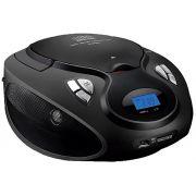 Rádio Caixa De Som Boombox Fm Cd Player Bivolt Usb Pen Drive Cartão Sd Auxiliar P2 Portátil Multilaser