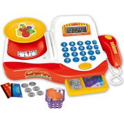 Caixa Registradora Do chefe Com Balança Brinquedo Infantil Eletrônico Menino Menina Som Luz Mercadinho Dinheiro Cartão Moedas Zoop Toys Original