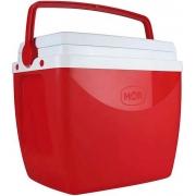 Caixa Térmica 18 Litros Cooler Com Alça Transporte Praia Piscina Verão Camping Pequena 24 Latinhas Vermelha Mor