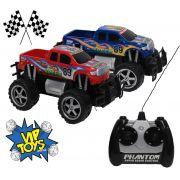 Carro De Controle Remoto Recarregável Menino Azul Vermelho Resistente Roda Grande Original Vip Toys