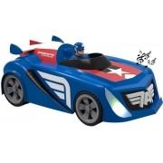 Carro Elétrico Infantil Fricção Eletrônico Com Luz Som Acelerando Marvel Capitã América Homem De Ferro Pilha Ag3 Divertido