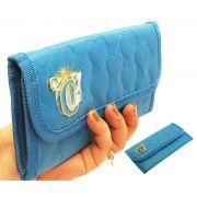 Carteira Doleira Feminina Love Azul Capricho Jovem Original Mão