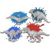 Dinossauro Para Colorir Pintar Infantil Dino Paint Menino Menina Várias Cores Estimula Criatividade Tinta Pincel Original Zoop Toys