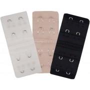 Extensor De Sutiã Kit Com 3 Unidades- Cores Básicas Branco Creme Preto Novo