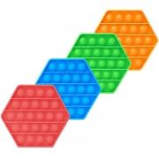 Fidget Toys Pop It Brinquedo Anti Stress Sensorial Empurra Bolha Silicone Ansiedade Formas Cores Flexível