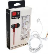 Fone De Ouvido Headphone Atende Ligação Emborrachado Resistente Unissex Branco Preto Cromado Moderno Reforçado Original