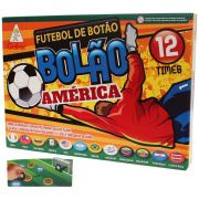 Futebol De Botão Bolão 12 Times Seleções América Jogo Infantil Menino Gulliver Original